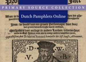 Dutch Pamphlets Online